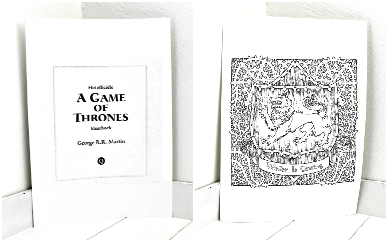 Game of Thrones kleurboek