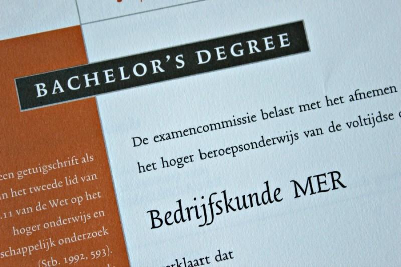 Bachelors degree Bedrijfskunde MER
