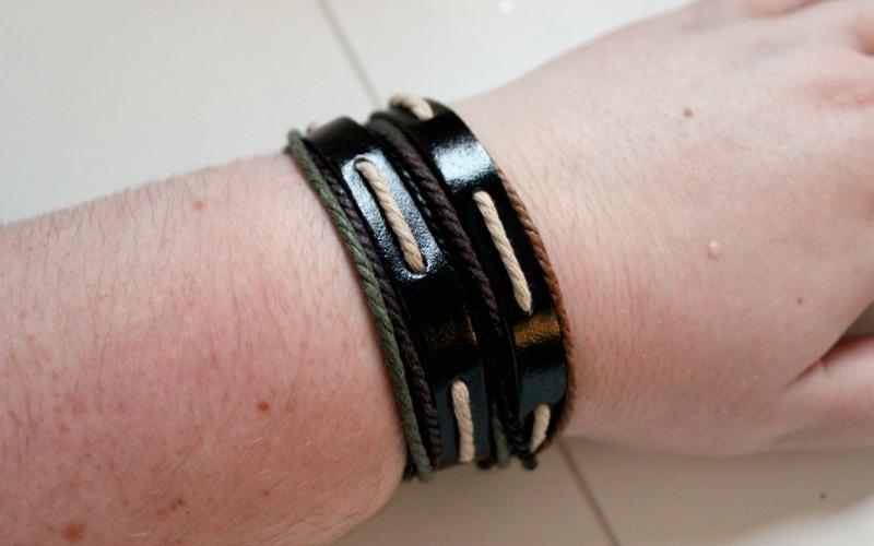 Ik ben sieraden - Leren armband