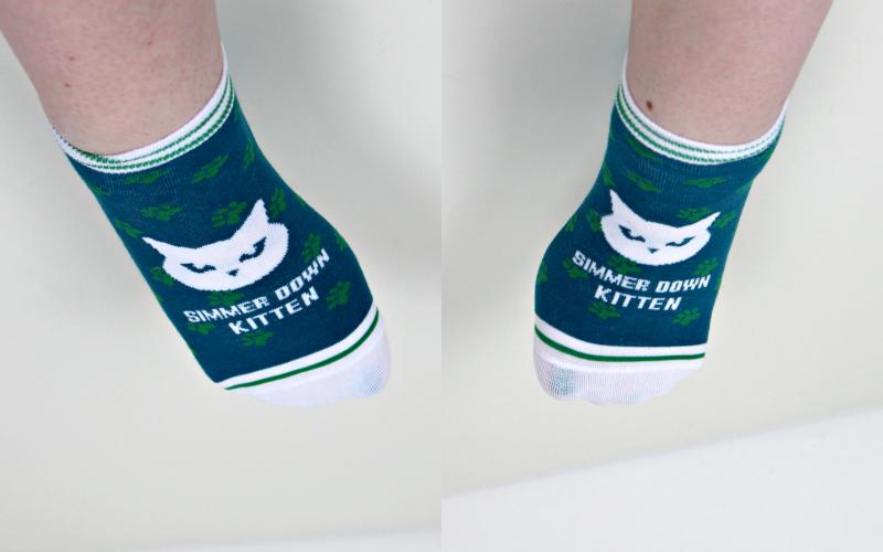 Simmer Down Kitten socks